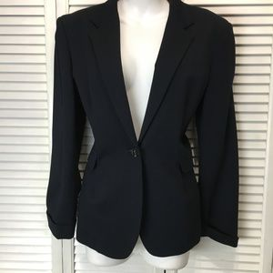 Faconnable womens knit navy blazer size 10